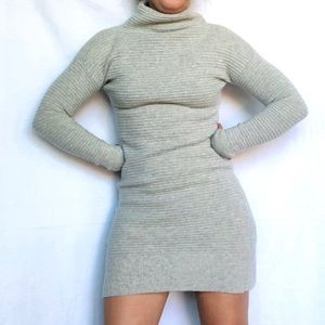 Madewell Skyscraper Merino Wool Mock Sweater Dress